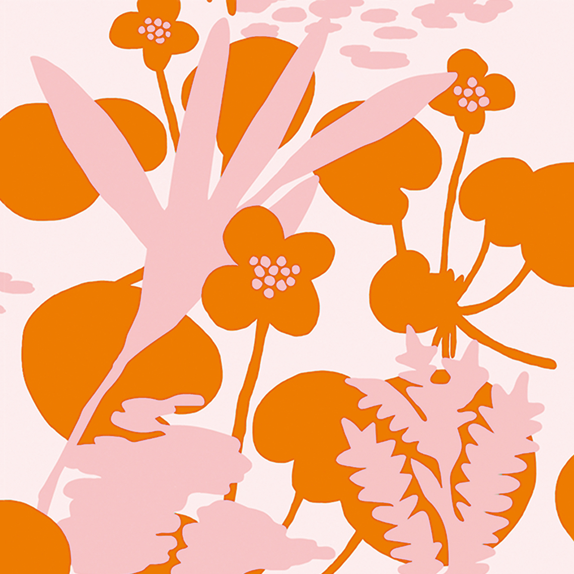 Wetland flowers patterns
