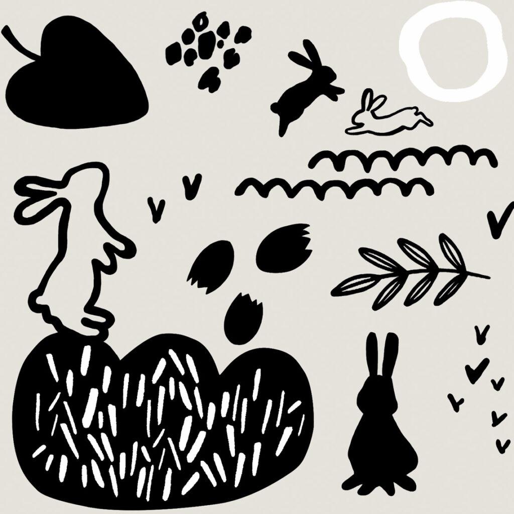 Pattern playing rabbits