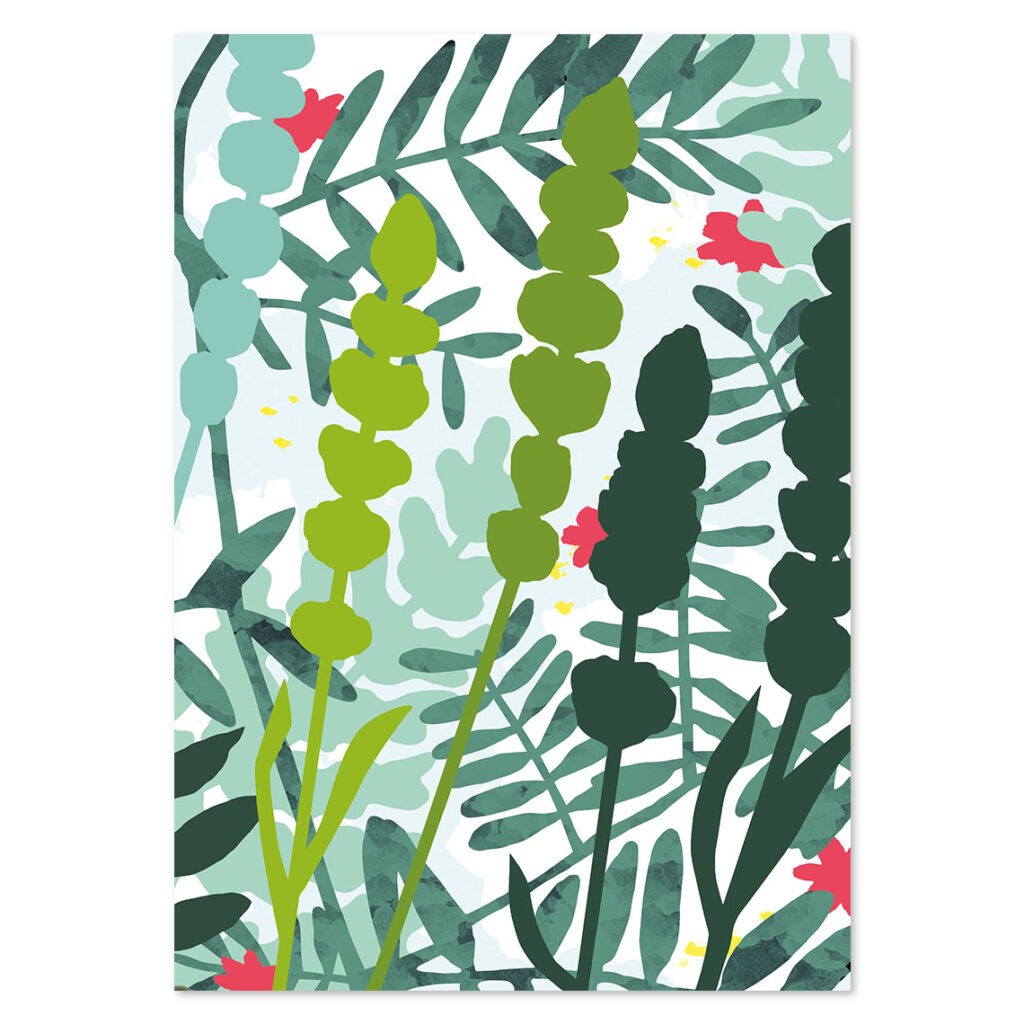 Illustration Wetland flower
