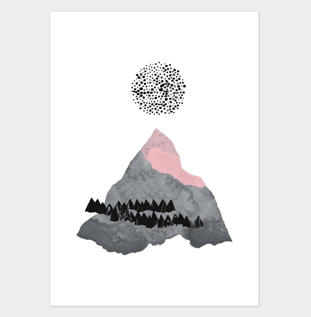 Illustration One Mountain